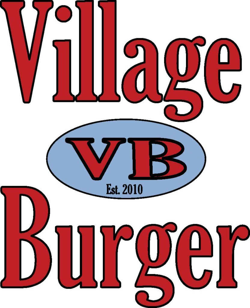 Village Burger Logo Vertical