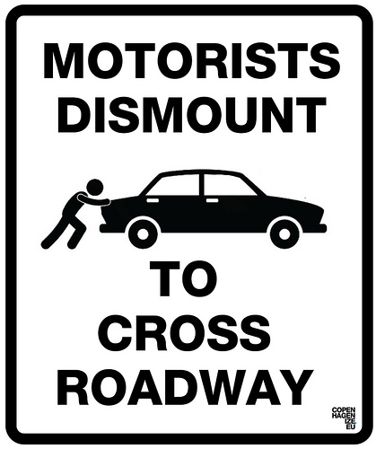 Dismount to cross Roadway